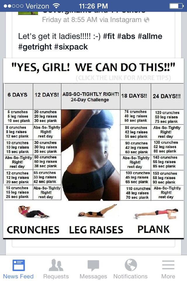 30 day ab workout | Health/Fitness | Pinterest | 30 day, Abs and 30 ...