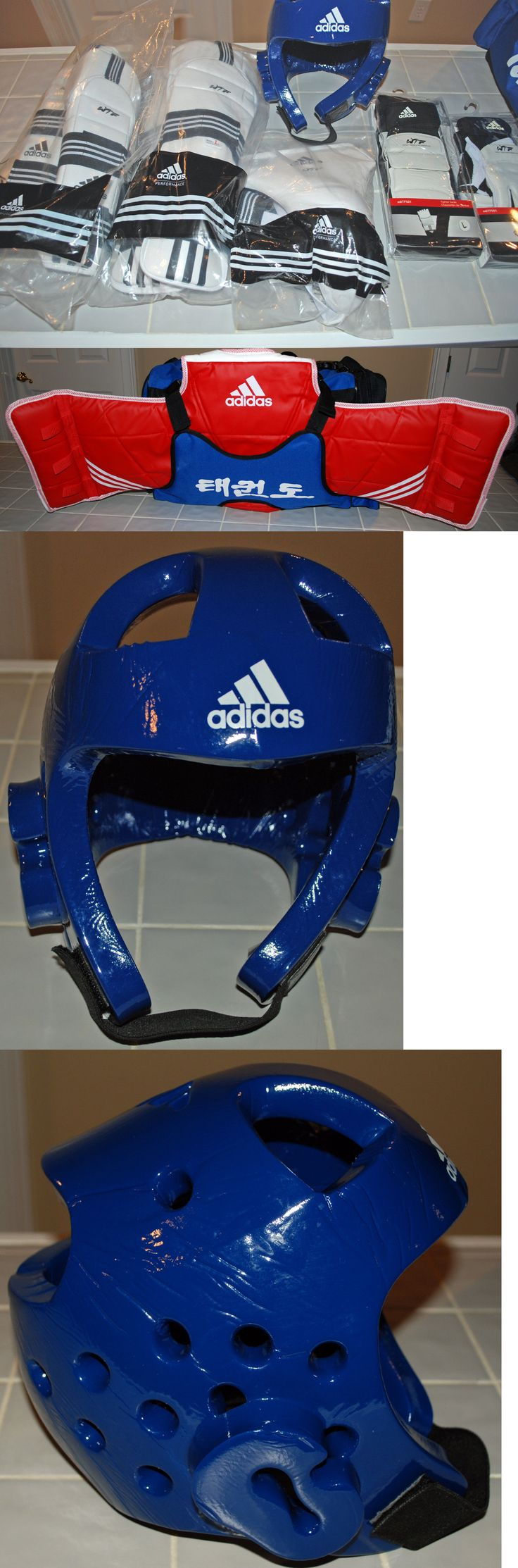 Other Combat Sport Protection 179783: Adidas Taekwondo Sparring Gear - Authentic - Complete Set - Wtf Approved + Bag -> BUY IT NOW ONLY: $399.95 on eBay!