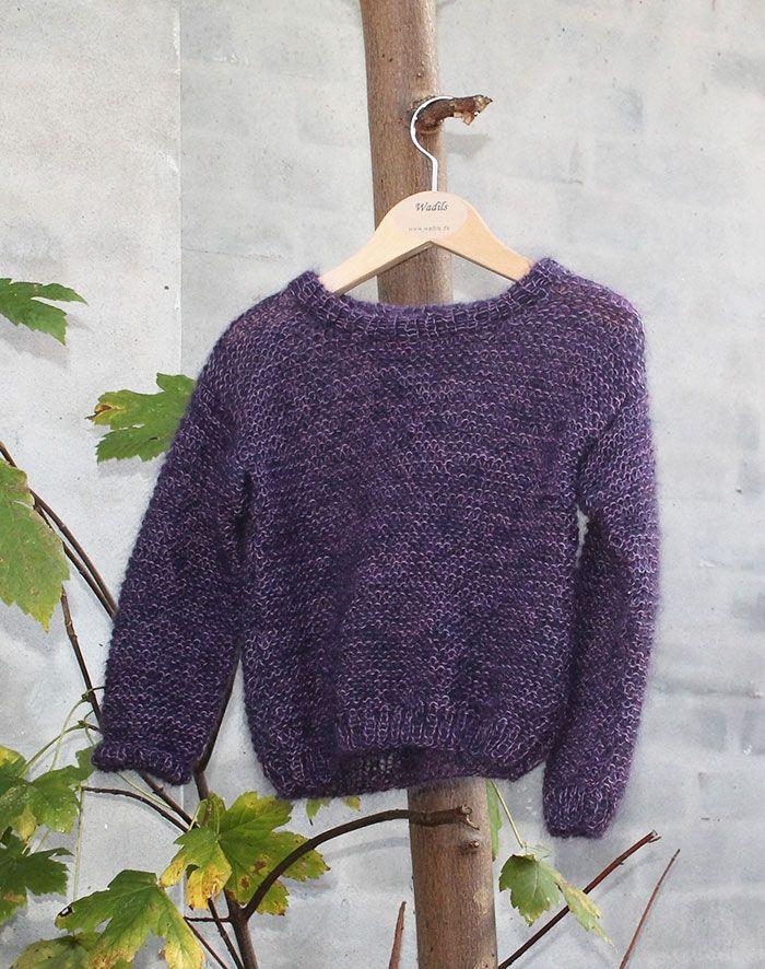 børne uld sweater strikkeopskrift
