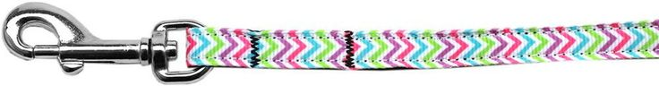 Summer Chevrons Nylon Ribbon Leash
