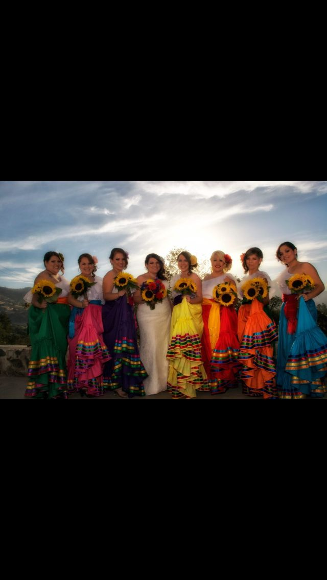 Mexican wedding, my bridesmaid are def wearing dresses like this to the ceremony