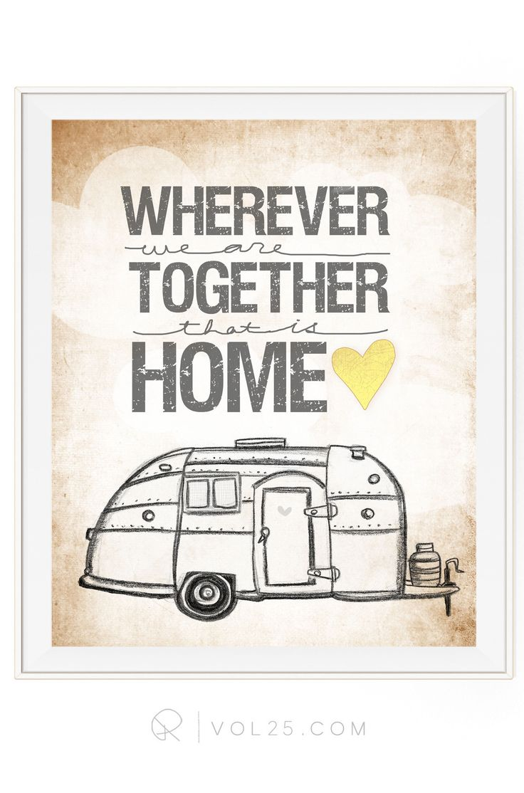 Wherever We Are Together Series | Airstream Trailer | Textured Cotton Canvas Art Print in 4 Sizes | VOL25