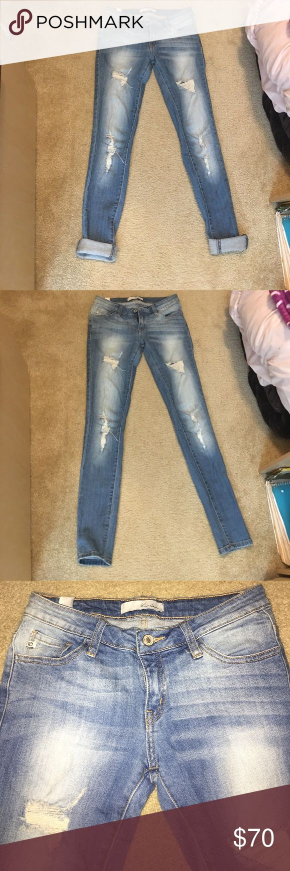 From buckle ripped jeans size 24 KanKan jeans from the Buckle store size 24 light washed basically brand new! In amazing condition. Jeans are from the Buckle store. Open to offers Buckle Jeans Skinny