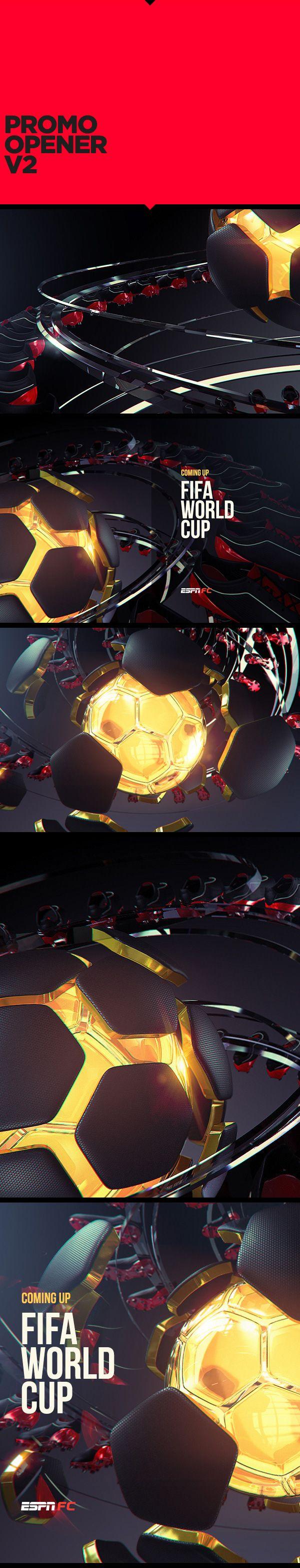 ESPN WORLD CUP SHOWPACK by Charlx Digital Art Director, via Behance