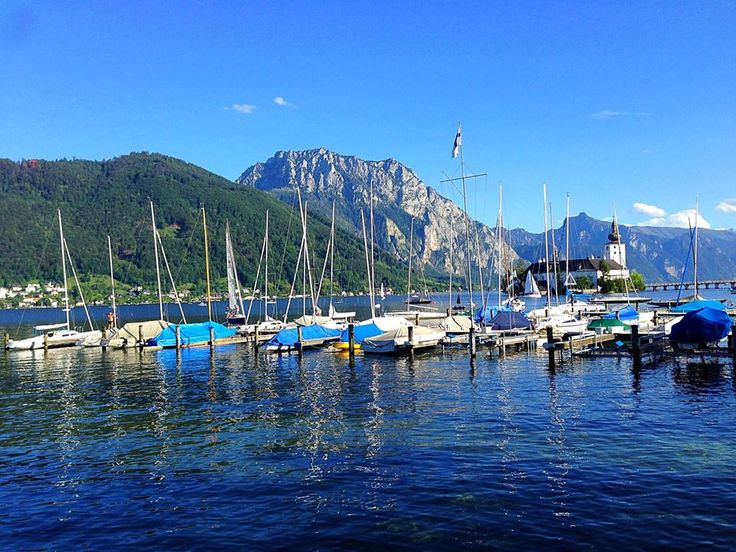 Gmunden, Austria, mountains, lake
