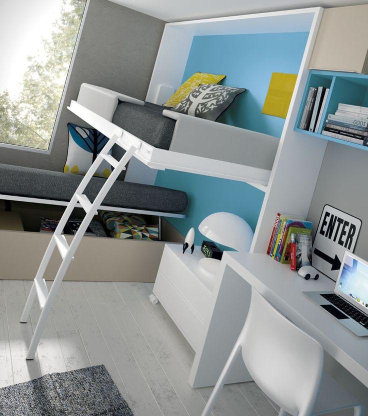 Mejores 28 im genes de camas para dormitorios con poco - Dormitorios juveniles con poco espacio ...