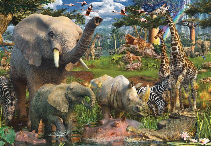 Puzzles Ravensburger - Puzzle de 18000 Piezas Animales en la Charca en CasaDelPuzzle Tienda de Puzzles y Rompecabezas.