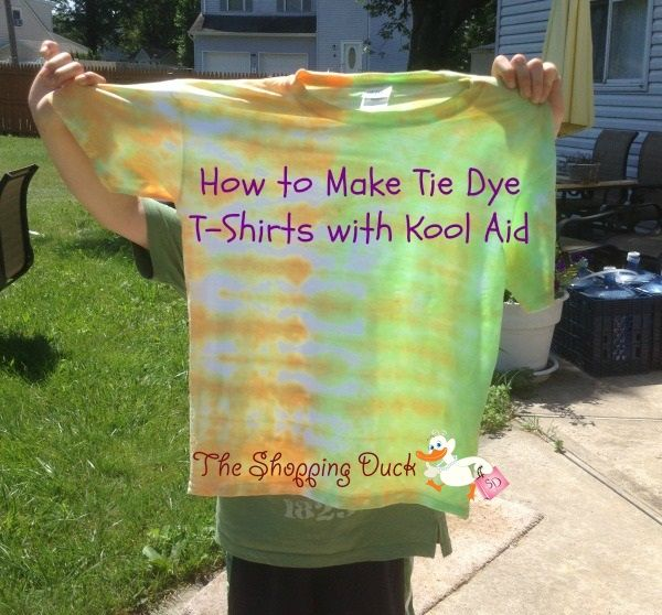 How to Make Tie Dye T-Shirts with Kool Aid #cbias #KoolAidBTRtour #shop
