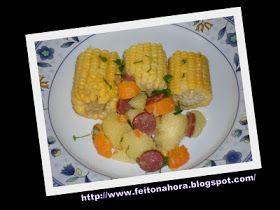 Mistura  de mãe   gostosa, prática, vapt-vupt...         Legumes com  Milho  e Linguiça Calabresa   na Panela de Pressão   10 minutos      ...