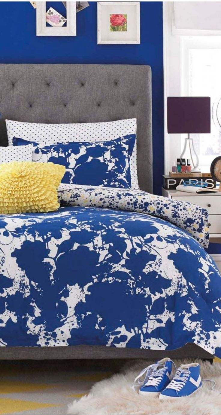 Bright blue bedding - Teen Vogue Something Blue Bedding Collection