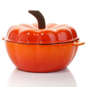 Wouldn't this be great for the holdays? Wolfgang Puck Cast Iron 2qt Pumpkin Casserole with Lid at HSN.com.
