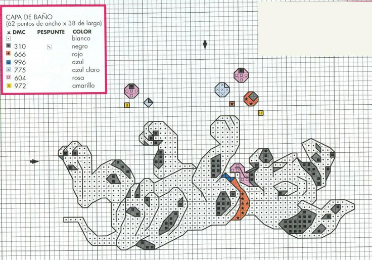sandylandya@outlook.es  101 Dalmations cross stitch pattern