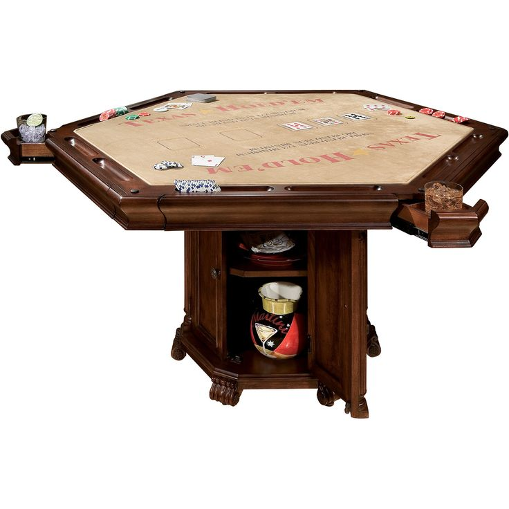 Convertible Hexagon Poker and Dining Table by Howard