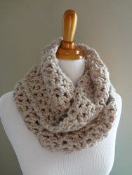 Classic Infinity Scarf 1.5 Skeins Lion Brand Wool Ease Thick & Quick   Crochet Hook: N/15   Yarn Weight: (6) Super Bulky/Super Chunky (4-11 stitches for 4 inches)