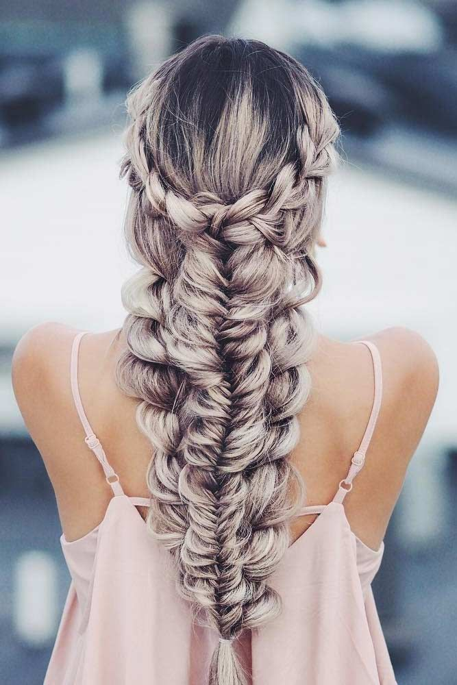 15 Braided Hairstyles To Wear On A Date Lovehairstyles Com Romantic Braided Hair Hair Styles Long Hair Styles