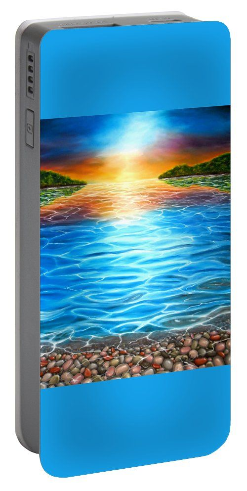 Portable Battery Charger,  blue,colorful,cool,beautiful,fancy,unique,trendy,artistic,awesome,fahionable,unusual,accessories,for,sale,design,items,products,gifts,presents,ideas,sea,coastal,scene