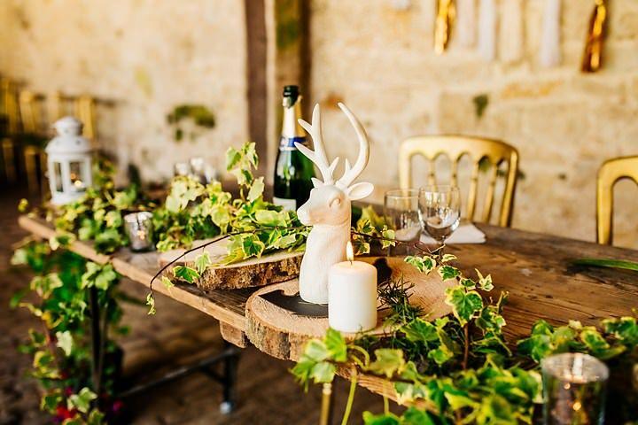 Elizabeth andAntony's 'Minimalistic Woodland' Rustic Barn Wedding in Wiltshireby Nick Rutter
