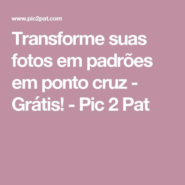 Transforme suas fotos em padrões em ponto cruz - Grátis! - Pic 2 Pat