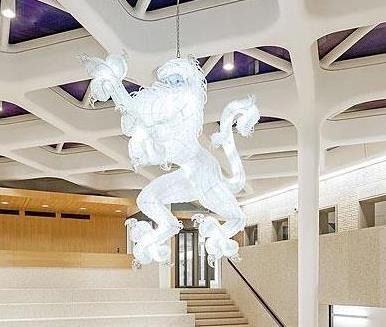 LION bespoke lighting sculpture by Hans van Bentem & KOLEKTIV ATELIERS for the Ministry of Defence, Haag, Netherlands.