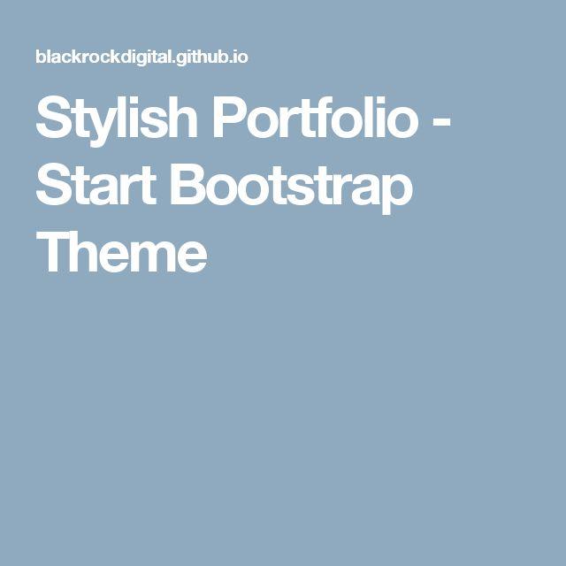 Stylish Portfolio - Start Bootstrap Theme