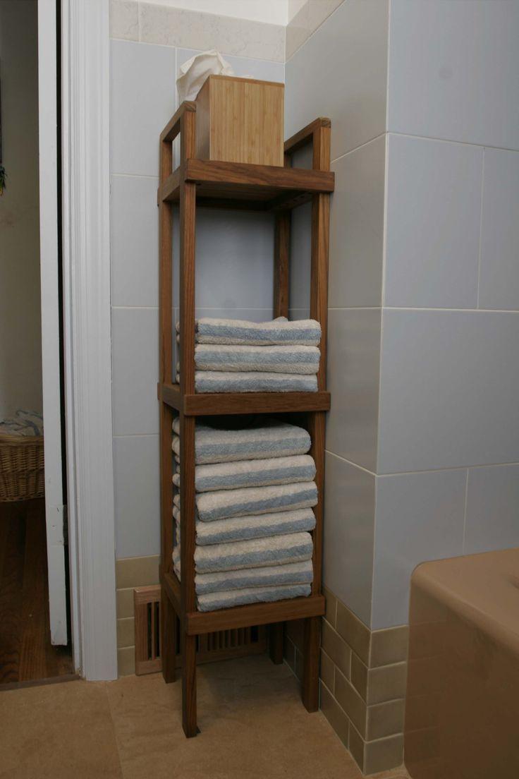 Teak bathroom space saver - Teak Space Saver Shelf