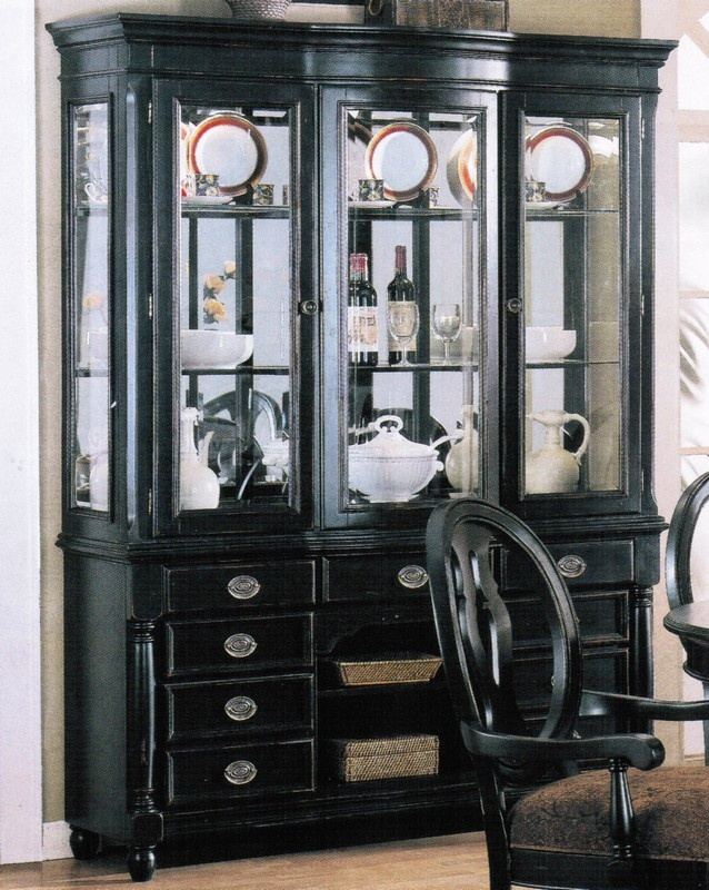 Love This Black China Cabinet With The Mirrored Back Panels Im Getting An