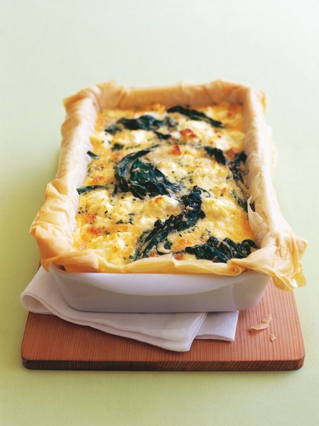 3 Spring-Green Tart Recipes I'm Dying To Try, like this Spinach & Three-Cheese Pie!