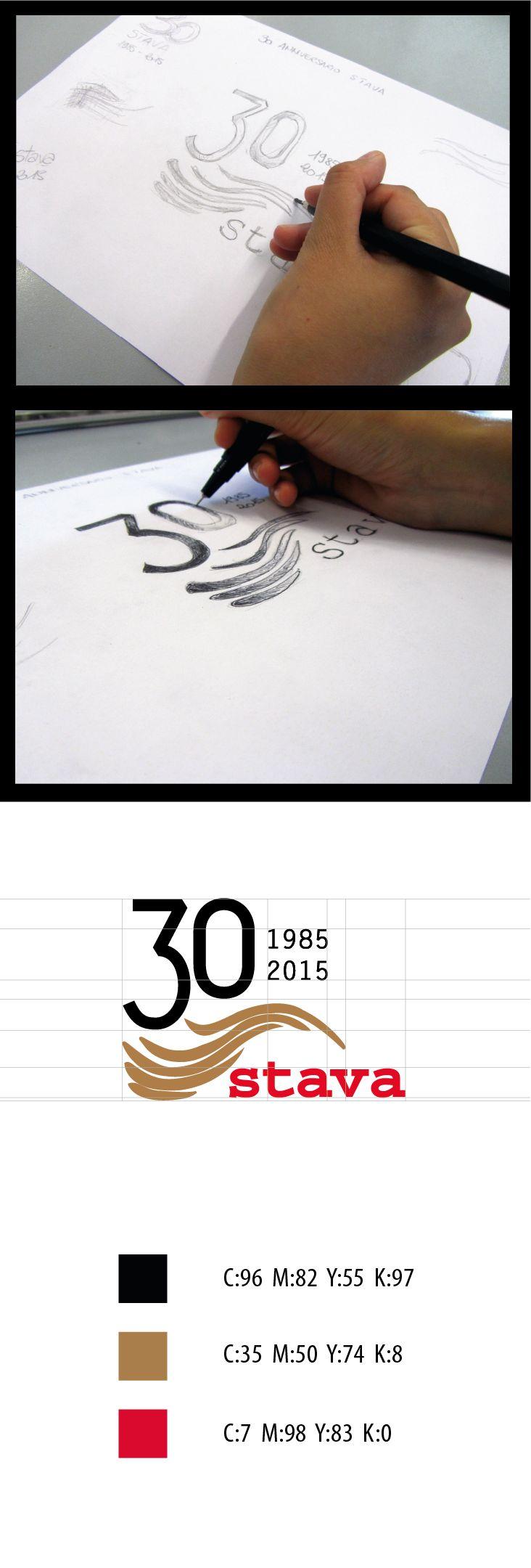Processo di realizzazione del logo per il 30° anniversario della tragedia di Stava