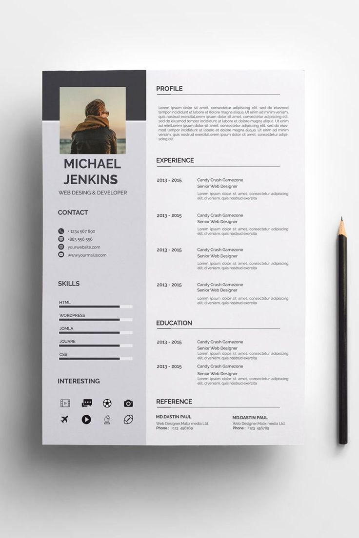 clean  u0026 modern resume  cv template to help you land that great job  the flexible page designs are