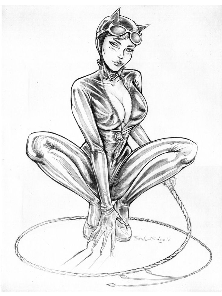 Pics For Gt Original Catwoman Drawing
