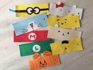 子供と100均工作♪画用紙で作る【簡単可愛い手作りキャラクターしおりの作り方】手作りクリスマスプレゼントやハロウィン,夏休みなどのお子様との工作タイムにおすすめ♪