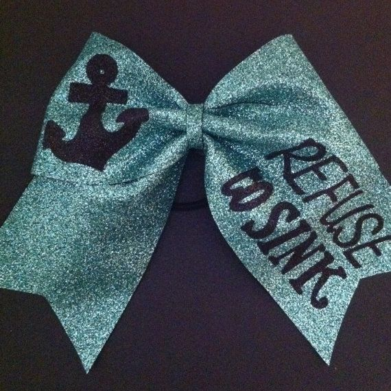Hey, I found this really awesome Etsy listing at http://www.etsy.com/listing/126025457/3in-jade-glitter-anchor-cheer-bow-refuse