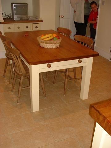 handmade kitchen table bespoke units tables uk ireland