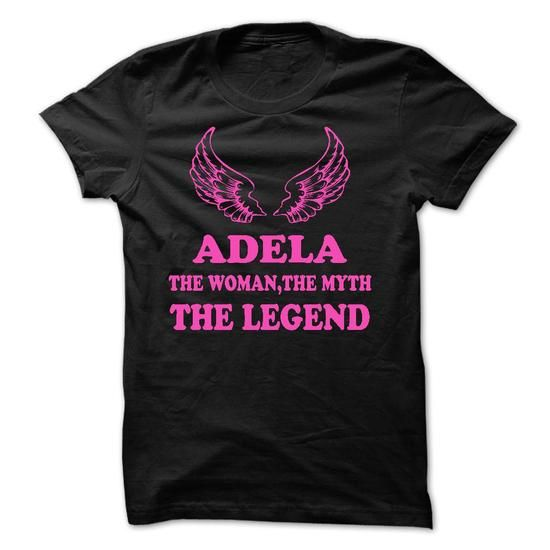 ADELA - The Woman The Myth The Legend - #tee tree #slogan tee. LIMITED TIME PRICE => https://www.sunfrog.com/Names/ADELA--The-Woman-The-Myth-The-Legend.html?68278