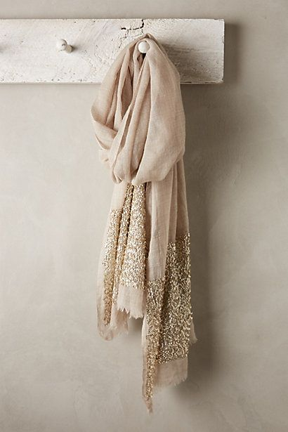 I have a very similar one, bought in Prague Glimmered Wool-Silk Scarf #anthropologie | So pretty!