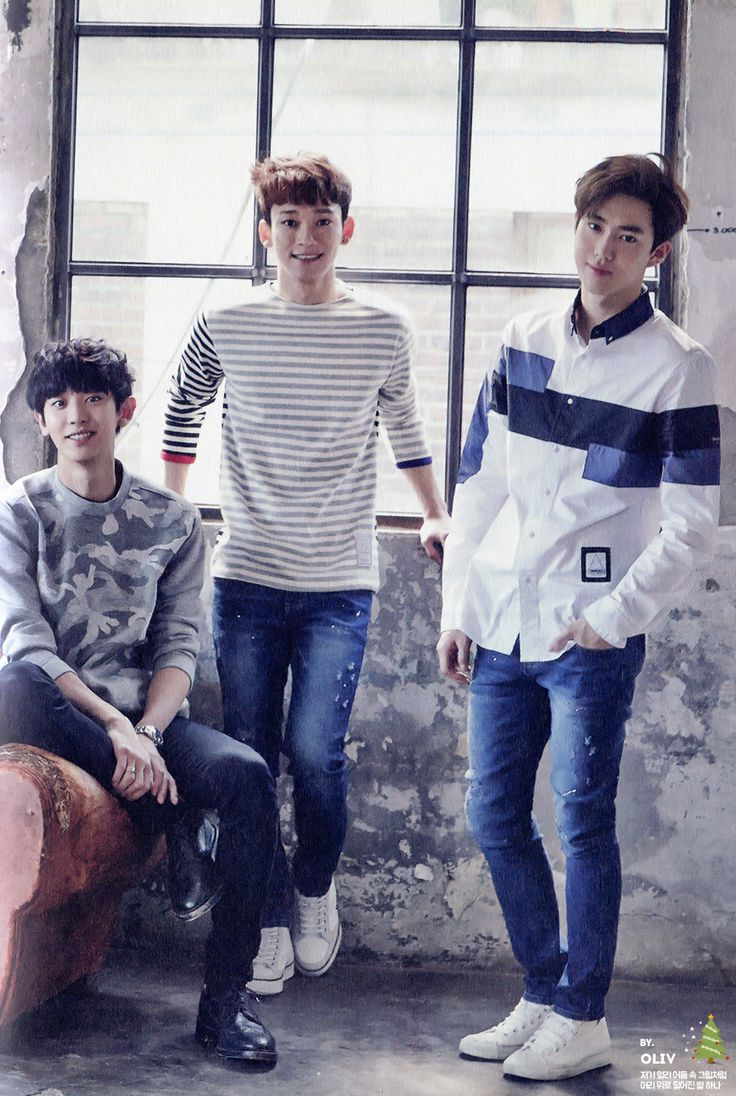 CHANYEOL CHEN SUHO // 2015 Season's Greetings official calendar