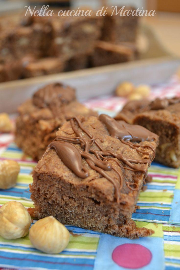 brownies alla nutella ricetta nella cucina di martina