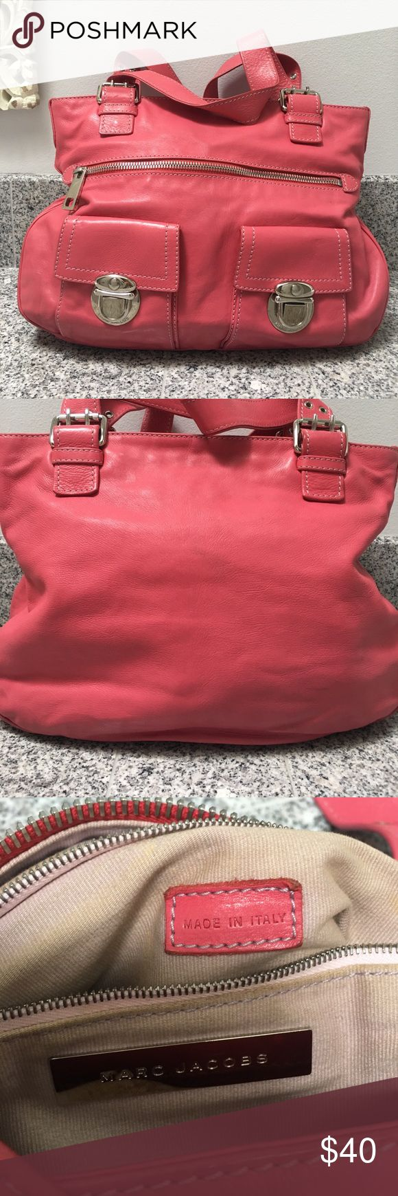 Marc Jacobs Stella Bag Vintage😜 hot pink Marc Jacobs Stella Bag. Fair/good condition. A few stains on the leather and on the inside Marc Jacobs Bags Shoulder Bags