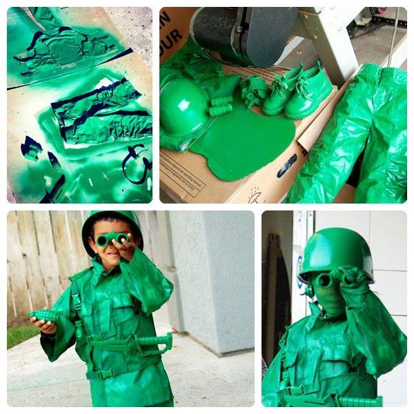 Disfraz casero de soldadito de Toy Story