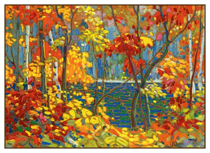 Tom Thomson's The Pool Trees Autumn Canada Landscape Counted Cross Stitch or…