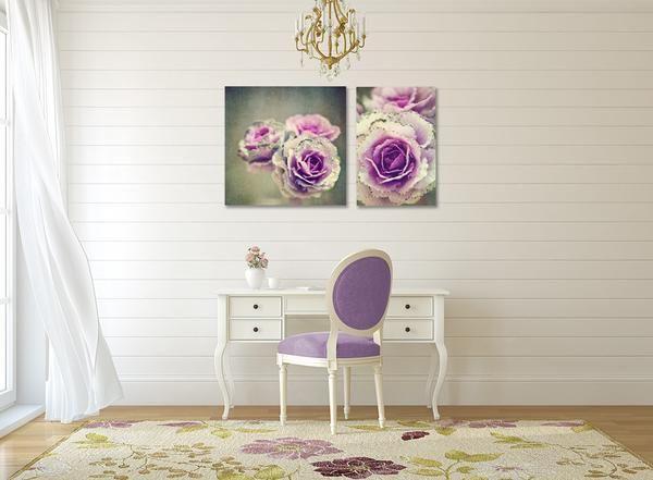 Cabbage flower print set - 2 prints, various sizes
