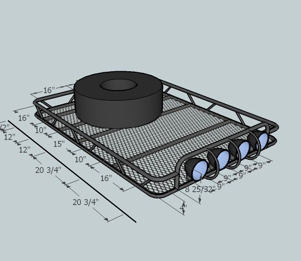Critique my roof rack design! - JeepForum.com
