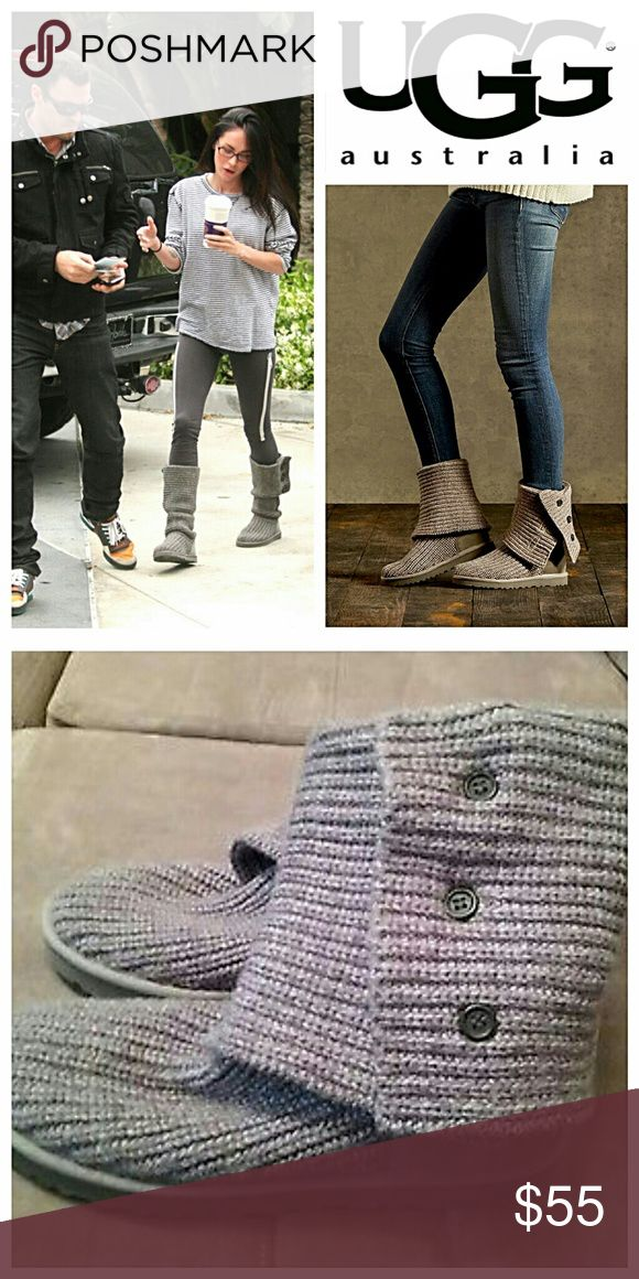UGG Cardy Sweater Boots Versatile boots that can be worn up or folded over. Cute both ways. 💥 Reasonable offers accepted 💥 UGG Shoes