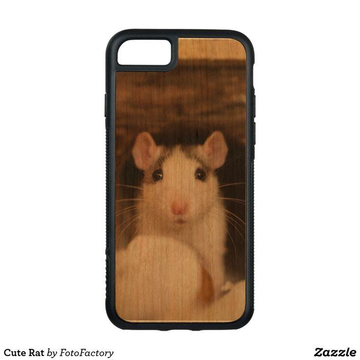Cute Rat Carved Cherry iPhone Bumper Case