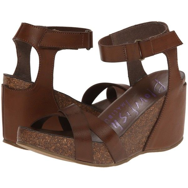 Blowfish Hippy Women's Sling Back Shoes, Brown ($41) ❤ liked on Polyvore featuring shoes, sandals, brown, wedge heel sandals, brown wedge shoes, blowfish shoes, wedges shoes and platform wedge sandals