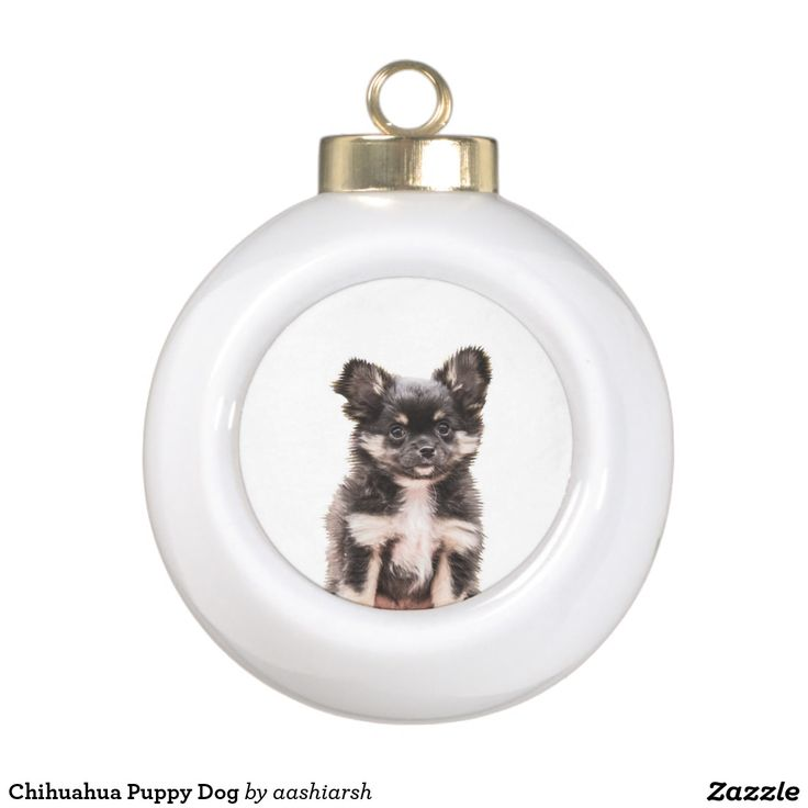 #Chihuahua Puppy #Dog Ceramic Ball #Christmas #Ornament #Christmasdecor #christmas2016