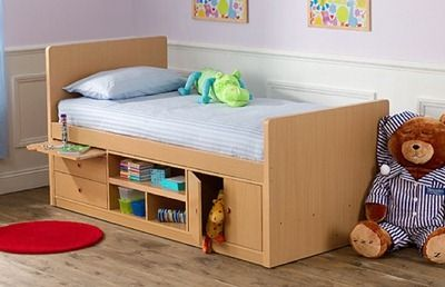 Cama funcional para niños :): Kid Beds, Cabin Beds, Kansas Cabin, Kids Room, Small Bedroom, Children, Bed Storage