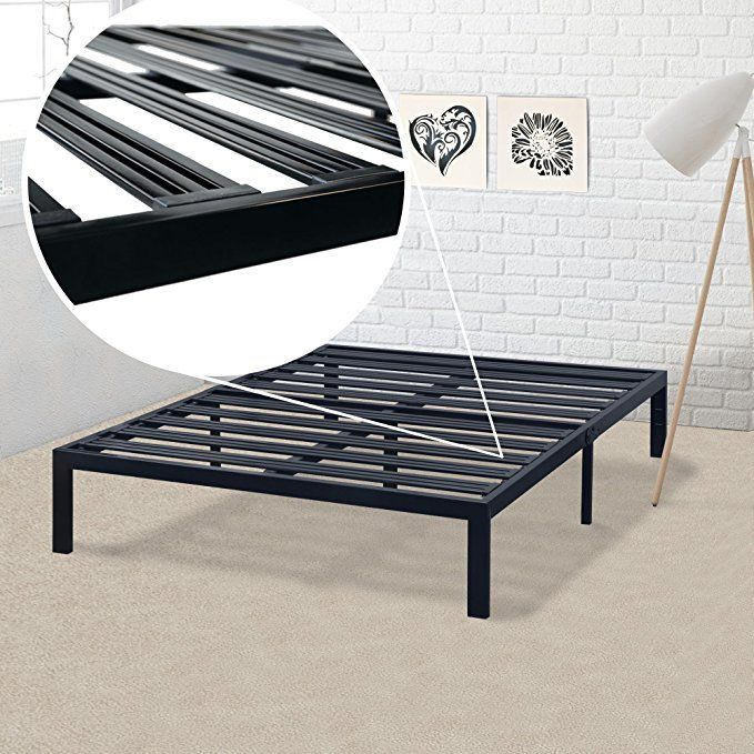 Does Not Squeak Ever Height And Dimensions Fit Perfectly Into My Cal King Bed Frame I Highly Recommend This Pro Steel Bed Frame Metal Platform Bed Bed Frame