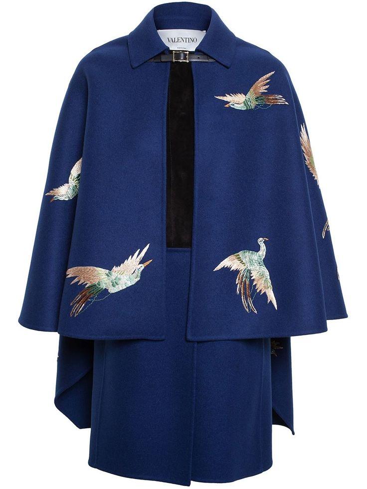 Valentino Bird Embroidered Cape