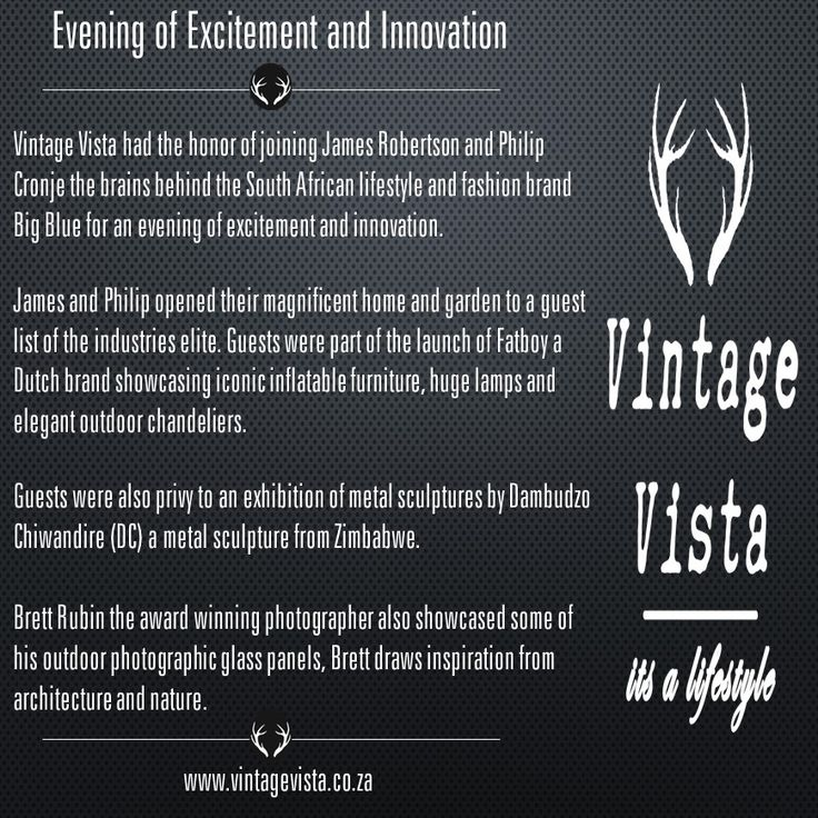 Vintage Vista part of the elite guest list of the Fatboy launch in South Africa